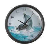 Bubble Dolphin Large Wall Clock