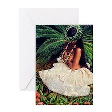 Hawaiian Hula Dancer Greeting Card