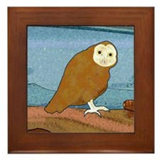 Midnight Owl Framed Tile