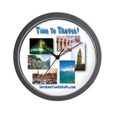 Time To Travel! Wall Clock