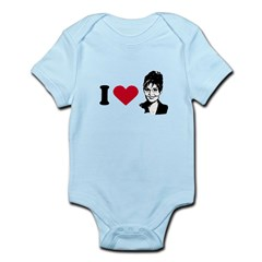I Love Sarah Palin Infant Bodysuit
