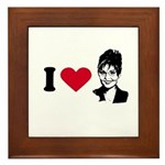 I Love Sarah Palin Framed Tile