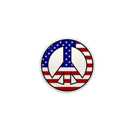 U.S Flag Peace Sign Mini Buttons (100 pack)