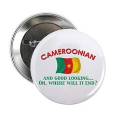 "Good Lkg Cameroonian 2.25"" Button (10 pack)"