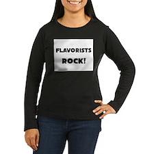 Flavorists ROCK Women's Long Sleeve Dark T-Shirt