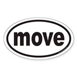 move Euro Oval Decal