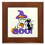 Halloween Ghost Framed Tile