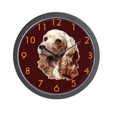 cocker spaniel angel Wall Clock