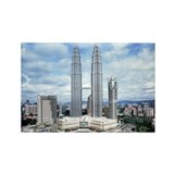 MALAYSIA TWIN TOWER Rectangle Magnet