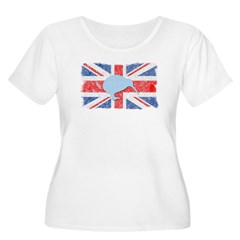 British Kiwi Women's Plus Size Scoop Neck T-Shirt