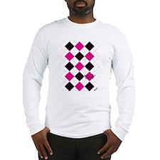 Argyle Style Long Sleeve T-Shirt
