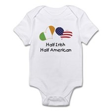 Half Irish Half American (Hearts) Infant Bodysuit