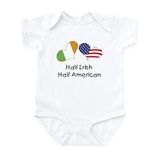 Half Irish Half American (Hearts) Onesie