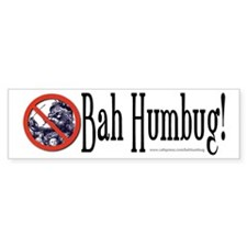 BAH HUMBUG! Christmas Bumper or Package Bumper Sticker