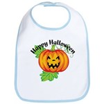Happy Halloween Pumpkin Bib