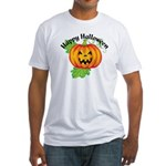 Happy Halloween Pumpkin Fitted T-Shirt