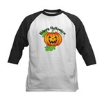 Happy Halloween Pumpkin Kids Baseball Jersey