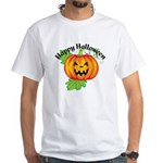 Happy Halloween Pumpkin White T-Shirt