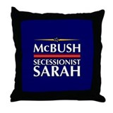 McBush/Secessionist Sarah '08 Throw Pillow