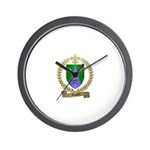 GAUDET Family Crest Wall Clock