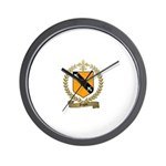 GAGNE Family Crest Wall Clock