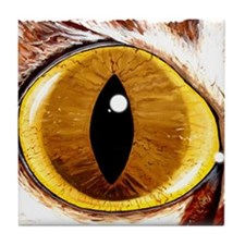 Painted Cat's Eye Tile Coaster