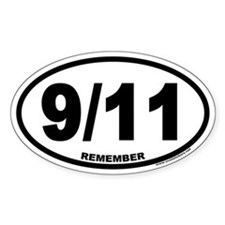 9/11 Euro Oval Decal