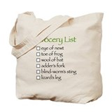 Witch's Grocery List Tote Bag