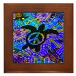 Peace Turtles Framed Tile