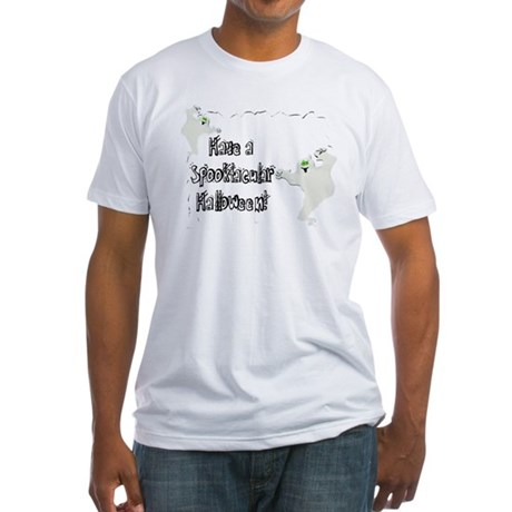 Spooktacular Halloween Fitted T-Shirt