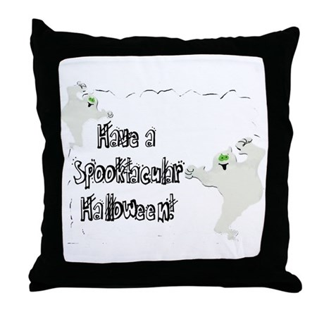Spooktacular Halloween Throw Pillow