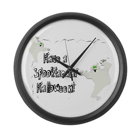 Spooktacular Halloween Large Wall Clock
