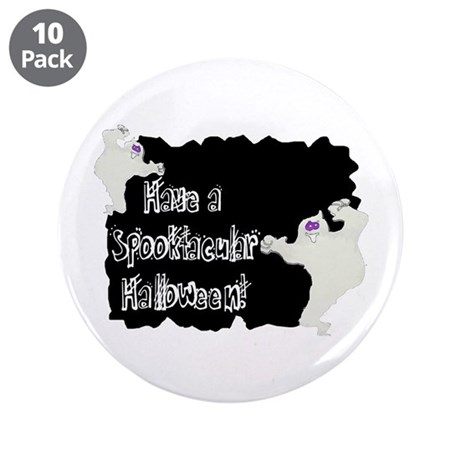 "Spooktacular Halloween 3.5"" Button (10 pack)"