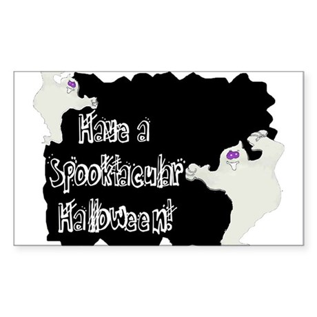 Spooktacular Halloween Rectangle Sticker 50 pk)