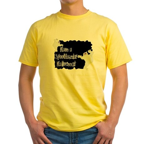 Spooktacular Halloween Yellow T-Shirt