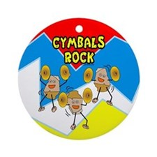 Cymbals Rock Ornament (Round)