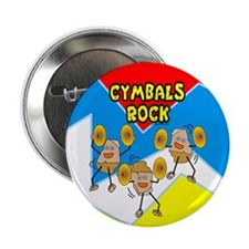 "Cymbals Rock 2.25"" Button (100 pack)"