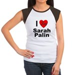 I Love Sarah Palin (Front) Women's Cap Sleeve T-Sh