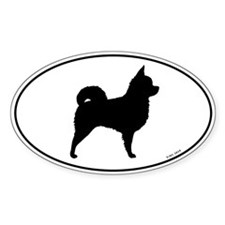Long Hair Chihuahua Oval Sticker (10 pk)
