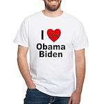 I Love Obama Biden White T-Shirt