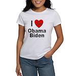 I Love Obama Biden Women's T-Shirt