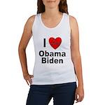 I Love Obama Biden Women's Tank Top