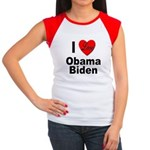 I Love Obama Biden Women's Cap Sleeve T-Shirt