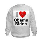 I Love Obama Biden (Front) Kids Sweatshirt