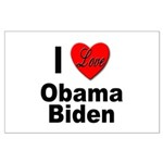I Love Obama Biden Large Poster