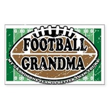 Football Grandma Rectangle Decal