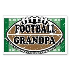 Football Grandpa Rectangle Decal