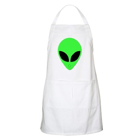 Alien Head Design 2 BBQ Apron