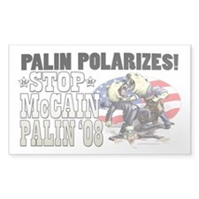 Palin Polarizes Rectangle Sticker 10 pk)