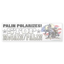 Palin Polarizes Bumper Sticker (10 pk)